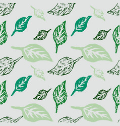 seamless botanic pattern vector image vector image