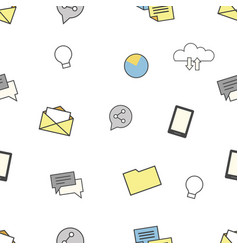 set of internet and technologies icons seamless vector image