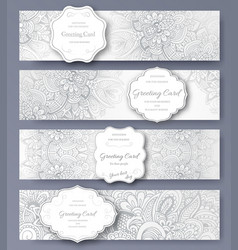 set of wedding banners pages ornament vector image