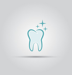 shining tooth isolated logo vector image