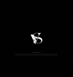 simple minimalist sv vs logo design vector image