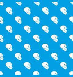 Skull pattern seamless blue vector