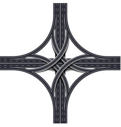stack interchange four level four way interchange vector image
