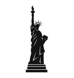 Statue of liberty icon simple style vector