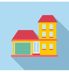 Suburb house icon flat style vector