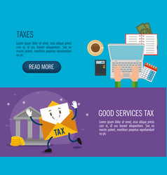 Tax day time set icons vector