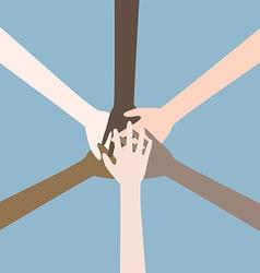 Teamwork hands vector