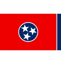 Tennesseean state flag vector image