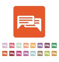 The chat icon Internet and forum blog online vector image