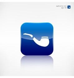 tobacco pipe icon hipster style flat design vector image