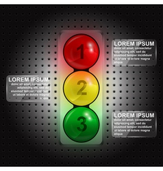 traffic lights infographic vector image