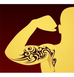 Tribal tattoo template vector