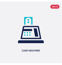 two color cash machine icon from e-commerce vector image