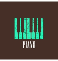 vintage with piano vector image vector image