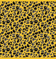 watercolor safari jaguar pattern vector image