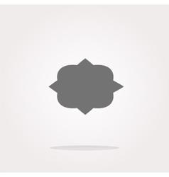 Abstract cloud web icon button Web Icon vector image vector image