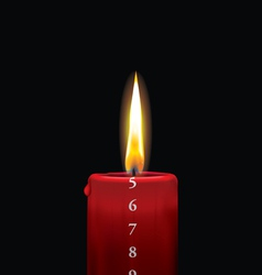 Advent candle red 5 vector image