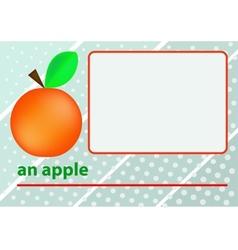An apple vector