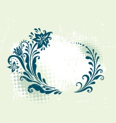 circle decorative grunge floral frame vector image vector image