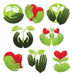 concept of life and nature vector image vector image