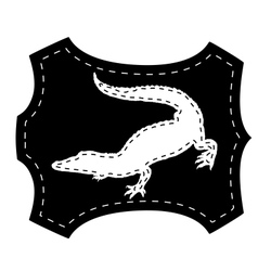 Crocodile leather vector