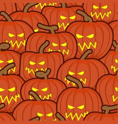 halloween background pumpkin seamless pattern vector image vector image