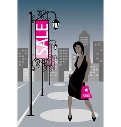 Night Shopping Girl vector image vector image