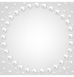 pearl frame on gray background vector image vector image