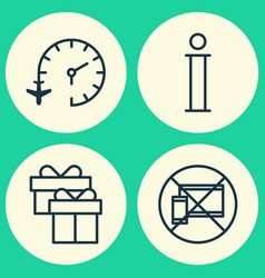 traveling icons set collection of travel clock vector image vector image