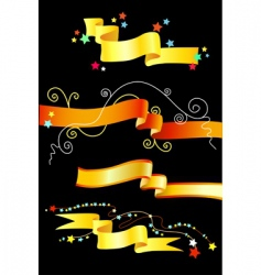 decorative tapes vector image vector image