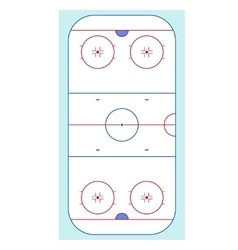 Ice Hockey Rink Top View vector image vector image