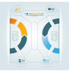 Minimal infographics 3d shadow design vector image vector image