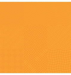 Seamless abstract orange pattern vector image vector image