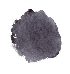 Black watercolor spot vector image vector image