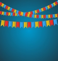 Festival flag banner vector image