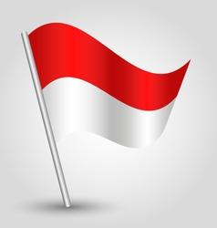 flag monaco vector image vector image