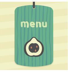 Outline pear fruit icon modern infographic logo vector