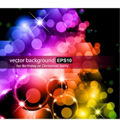 rainbow lights background vector image