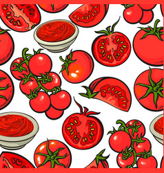 Seamless pattern backdrop design of with ripe red vector