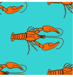 seamless pattern made from orange cancer vector image vector image