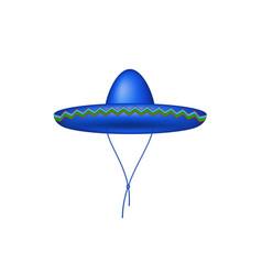 sombrero hat in blue design vector image vector image