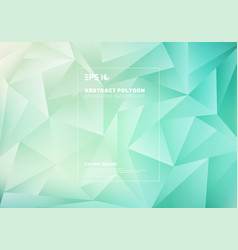 abstract low polygon or triangles pattern on blue vector image