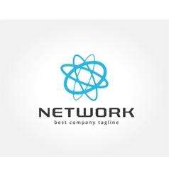 Abstract network logo icon concept Logotype vector