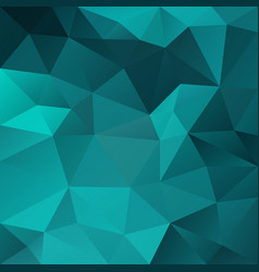 abstract polygonal square background aqua green vector image