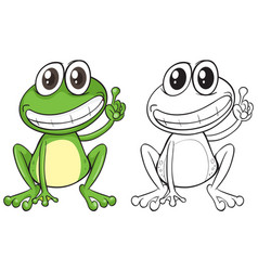 Animal outline for funny frog vector
