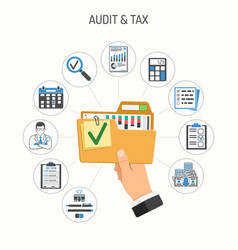 auditing tax accounting concept vector image