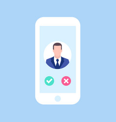 avatar man in phone man call me business concept vector image