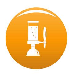Beer tap icon orange vector