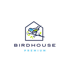 bird house logo icon vector image