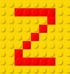 Building kit of plastic Font 26 vector